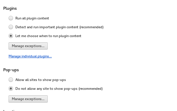 "Picture showing how to change browser plugins to ""Click to play"""