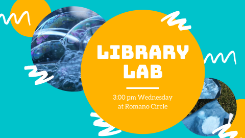 Library Lab, 3:00 pm Wednesday at Romano Circle